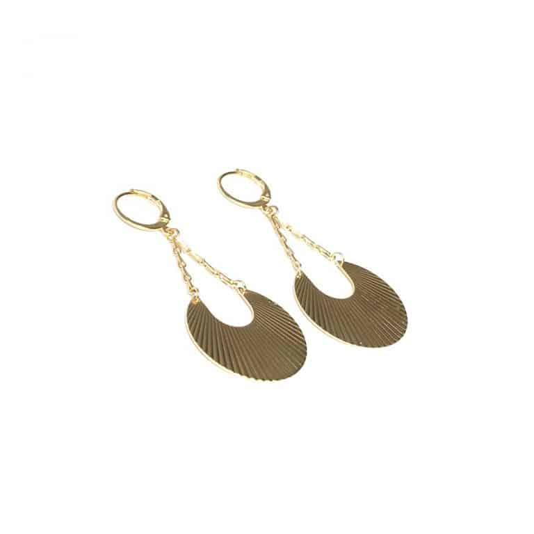 Boucles d'oreilles AZTEQUE petites dorées à l'or fin